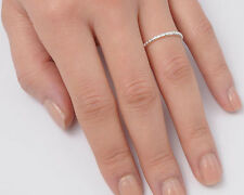 Silver Tiny Band Ring Sterling Silver 925 Plain Best Deal Jewelry Gift Size 10
