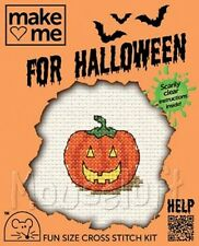 Mouseloft Mini Cross Stitch Kit  - Halloween - Pumpkin