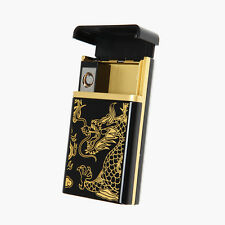 New Cigarette Case Cigar Lighter with USB Rechargeable Lighter for Business Men