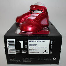 Air Jordan V 5 Valentine's Day Red Pink Sneakers Toddler's GP Size 1 1C New