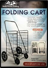 UPT Jumbo Folding Premium Shopping Basket Grocery Laundry Cart