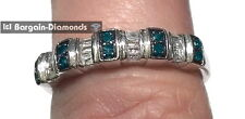 blue diamond .20 carat wedding band ring love promise 925 engagement enhancer
