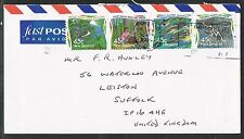 New Zealand 1995. Airmail cover to UK. Environment. Strip of 4 from booklet.