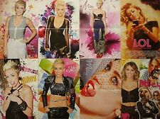 MILEY CYRUS  ___   8  POSTER   ___     COLLECTION   __  SIZE  28 cm x 42 cm