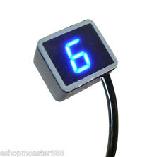 8Speed Universal Digital LED Gear Indicator Motorcycle Display Shift Lever Senso