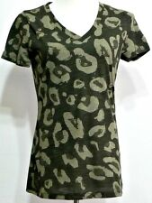 Mossimo Supply Co. Ladies Green Camouflage Short Sleeve Shirt - Size XS (0-2)