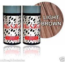 2 of Hairsoreal Hair Building Fibers 28g/LIGHT BROWN