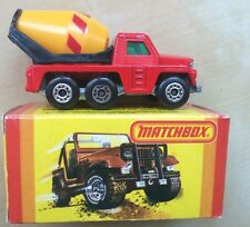 Matchbox 1-75 Superfast Lesney No. #19 Cement Truck With Box England 1982
