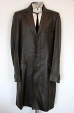 Men's Dolce & Gabbana Crombie Leather Long Coat EU52 XL £1500 Jacket Brown