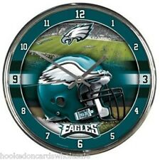 Philadelphia Eagles NFL Round Chrome Wall Clock