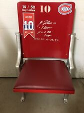 Montreal Forum Red Restored Seat - Guy Lafleur SIGNATURE - COA