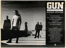 25/4/92 Pgn17 GUN : HIGHER GROUND SINGLE/TOUR ADVERT 7X10""