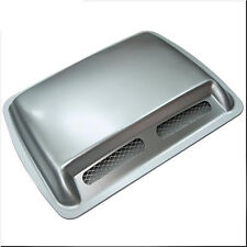 CAR ROOF HOOD AIR FLOW SCOOP DECORATION VENT COVER SILVER