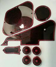 4 Guitar speed volume/tone knobs from 0-11.. Silver Flake/Red/Black..        JAT