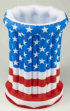 Inflatable Chest Ice Beer Pop Cooler Patriotic 4th Fourth of July Party Pool