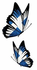 PAIR Of Butterflies Design With Scottish Saltire Scotland Flag vinyl car sticker