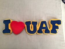 I LOVE UNIVERSITY OF ALASKA FAIRBANKS stuffed logo Pillow
