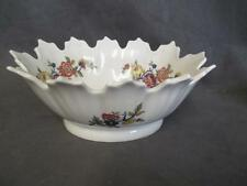 H7  Limoges France Oval Nut Bowl Mums Floral Design