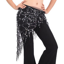 Belly Dance Hip Skirt Scarf Wrap Gem Waist Belt Beads Sequin Tassles Scarf BOS