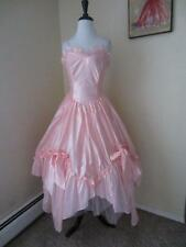 Vintage 1980's Cinderella Princess Prom Dress Pink Southern Belle Pageant S M