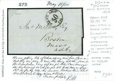 S75 1850 USA CHINA HISTORIC NY Steam Ship 30 Letter Re China Boston Trade EL