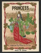 CHROMO PUB ADVERTISING FILATURE JAPONAISE PRINCESS  MITSUI & Co.Ltd début XXèm