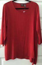 NWT CHICO'S TRAVELERS SULTRY RED ASYMMETRICAL TOP CHICOS 2 = M / L