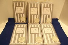 Silver Anniversary Wishes Stripe 25th Wedding Party Invitations w/Envelopes Lot