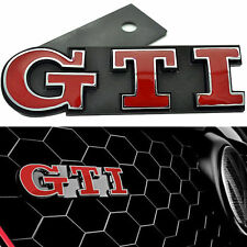 261- VW VOLKSWAGEN GTI FRONT GRILL LOGO RED EMBLEM BADGE POLO VENTO JETTA MK 5 6
