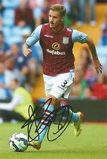 A 7 x 5 inch photo featuring and personally signed by Joe Bennett of Aston Villa