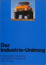 Mercedes Benz Unimog Original 1972 GERMAN Sales Brochure Pub. No. WZ3219/01/00