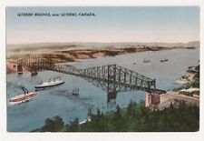 Quebec Bridge near Quebec Canada Antique Postcard