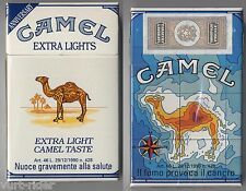 CAMEL EXTRA LIGHTS cigarette Italy empty pack ANNIVERSARY 1993 #11 Il fumo provo