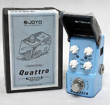 Joyo JF-318 Quattro Digital Delay True Bypass Mini Guitar Effects Pedal