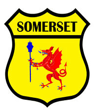 1 x Somerset Flag Decal Car Motorbike Laptop Window Sticker Static Cling Vinyl