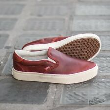 Vans Slip On Cup CA (Leather) Henna/Turtledove Men's Shoes SIZE 11.5