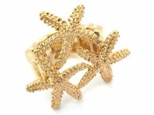 New Women's Starfish Ring Gold Plated Unique Design Cocktail Ring