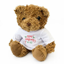 NEW - MERRY CHRISTMAS TO YOU - Teddy Bear - Cute And Cuddly - Gift Present Xmas