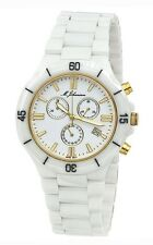 USED M.JOHANSSON MENS QUARTZ CHRONOGRAPH WHITE CERAMIC WRIST WATCH G-MaconasWG