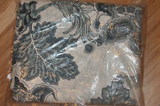 1 Pottery Barn Pascal 50 X 84 Floral Drape Midnight Blue Blackout Lining New