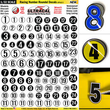 1/32 Slot Car Model Waterslide Decals IMPROVEMENT Number & Roundels #3 PRECUT