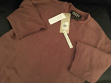 ADIDAS YEEZY SEASON 1 XS X-SMALL COGNAC FT SHORT SLEEVE CREW SWEATSHIRT JUMPER