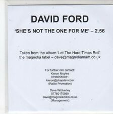 (BQ609) David Ford, She's Not The One For Me - 2010 DJ CD