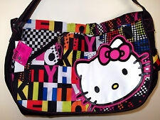 "New HELLO KITTY  Girl's   Bag Handbag Tote  Messenger 17x11x5""  Black"