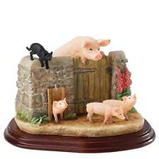 Border Fine Arts James Herriot Venturing Out Pigs Figurine New A22942
