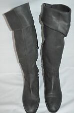 Vic Matie Dark Grey Leather Knee-High Boots size 41 UK 8 RRP £329