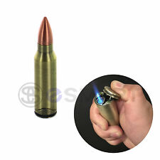 Cigar 50Cal Bullet Shape Lighter Butane Refillable Windproof Jet Torch Cigarette