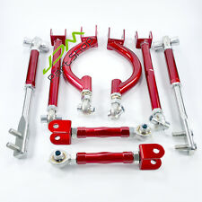 Control Toe Arms/Tension Arms/Camber Arm Rod 8pcs for Nissan S14 S15 R33 R34 RED