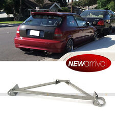Fit Civic Integra Stainless 3 Point Gunmetal Front Upper Strut Tower Brace Bar