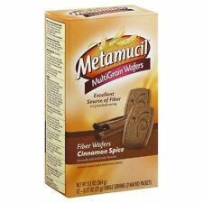 Metamucil MultiGrain Fiber Wafers Cinnamon Spice -- 12 Packets